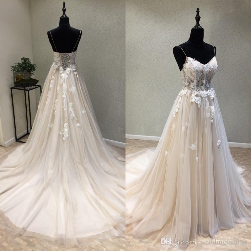 fa7d013dfb3 Cheap Crystal Bodice Chiffon Wedding Dress Discount Open Back Ruched  Wedding Dress