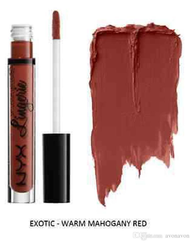 افون بأقل سعر / ماكياج جديد NYX LIP LINGERIE MATTE عاري المخملية أحمر الشفاه السائل / LIPGLOSS 12 B758 اللون