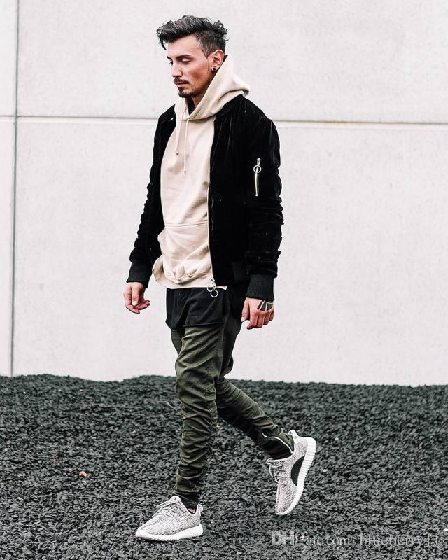 New verão tamanho preto / verde / caqui ocasional lado zipper harém calças homens atleta mens jumpsuit desgaste do clube 30-36 transporte livre