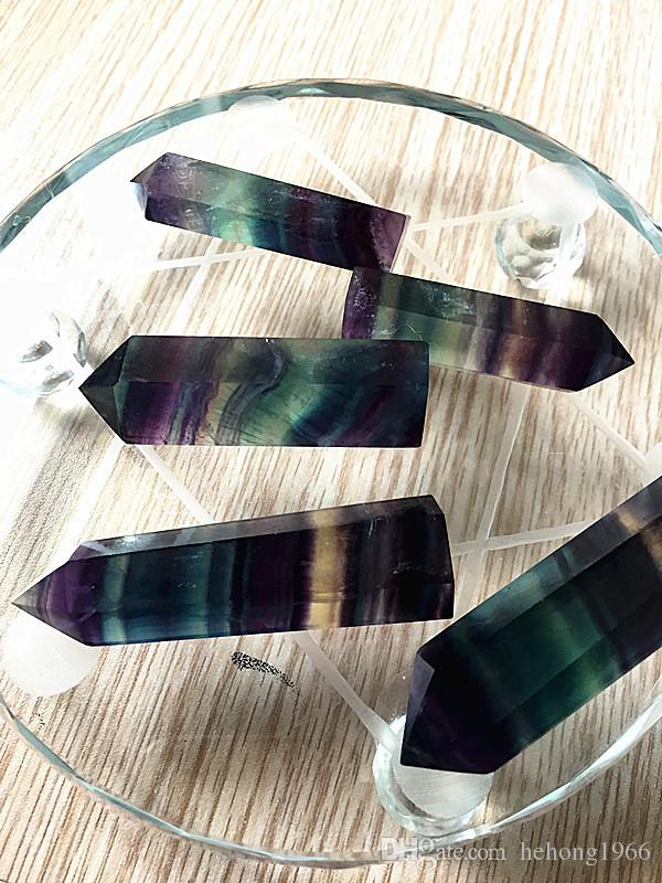 Rainbow Color Crystals Points Natural Fluorite Stripe Point Quartz Reiki Healing Crystal Cure Chakra Stone For Home Deco 10 sz B