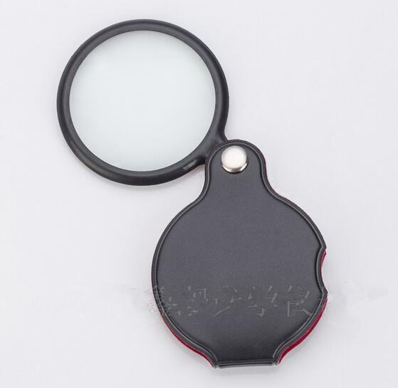 المحمولة البسيطة الأسود 50 ملليمتر 8x باليد عقد القراءة المكبرة عدسة مكبرة الزجاج طوي المجوهرات حلقة المجوهرات loupes نظارات هدية عيد