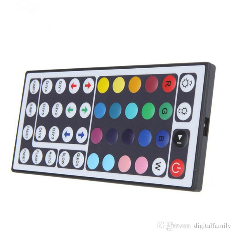 DC12V 6A Mini RGB led controller with 44 Keys IR Remote Control Dimmer wireless for LED Strip 5050 3528 34 modes