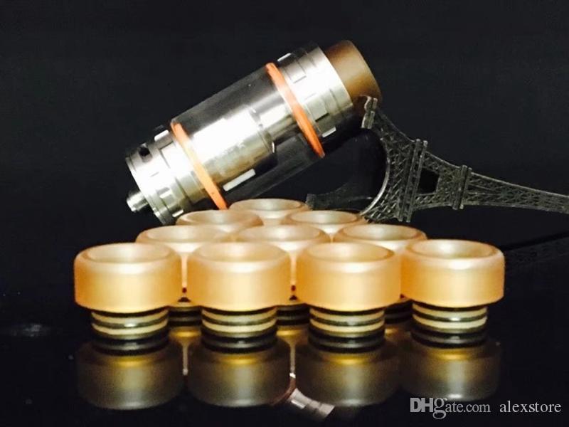 PEI 810 Tropfspitze mit Gummi-O-Ring für Prince TFV8 Kennedy 24 RDA Goon 528 Vape Mundstück 810 Zerstäuber DHL