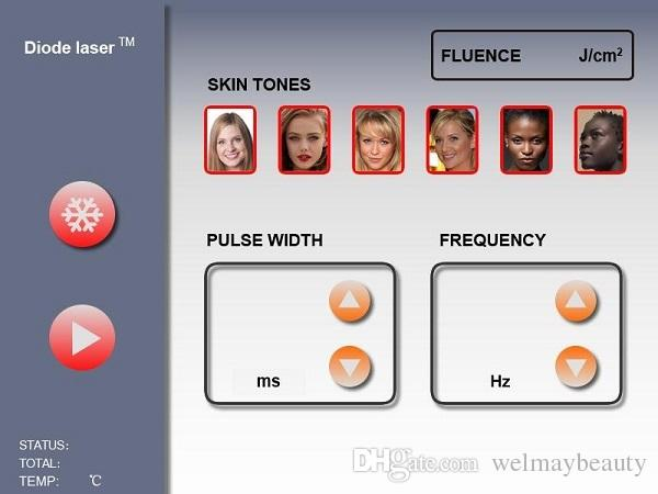 Máquina indolora no invasiva de depilación láser candela láser no invasiva para la venta