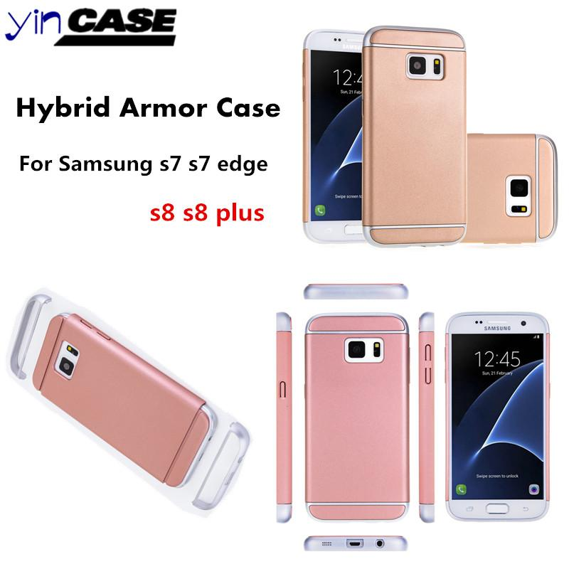 buy popular 1f2fb e5940 Ultra-thin PC Back Case For Samsung Galaxy s7 Rose Gold Back Cover For  Samsung S8 s8 plus S7 edge Luxury Slim Armor Case