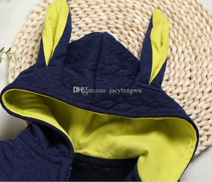 Детские ползунки с длинным рукавом младенческой мальчики девочки осень одежда дети платье зимний наряд комбинезоны Детские комбинезоны малыш дети бутик BB026