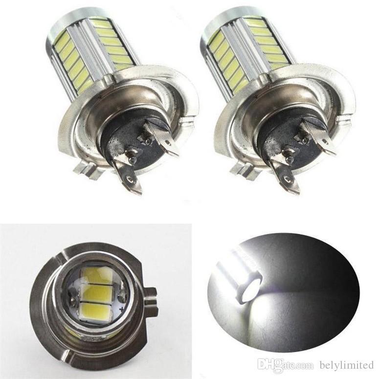 H4 / H7 Yüksek Güç Samsung 5630 Çip için LED Işık 33 SMD Sis Işık Far Sürüş DRL Araba Işık Oto Lamba ampul