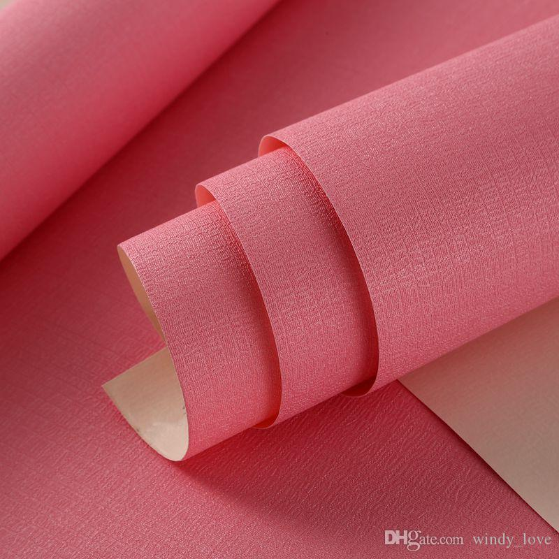 Modern Candy Solid Color Wallpapers Home Decor Pink Blue Green