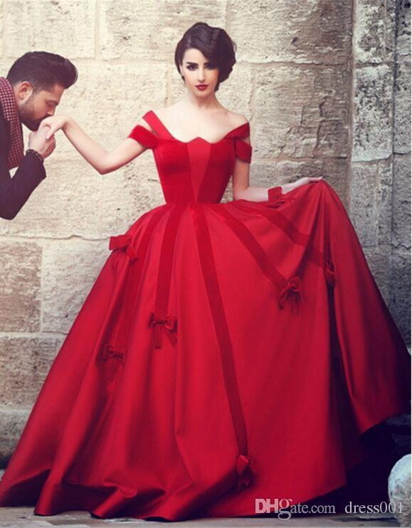 Elegant Long Red Evening Dresses Unique Heart Shaped Neck