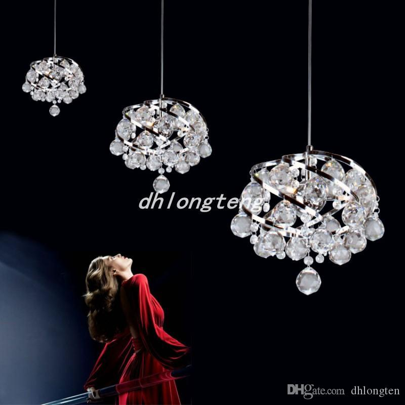 Spedizione gratuita moderna ristorante lampade a cristallo camera da letto lampadario con lampadario di cristallo del lampadario