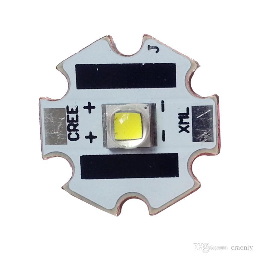 Estrela do diodo emissor de luz de XML2 com emissor de luz do diodo emissor de luz da luz branca do Cree XM-L2 U2 6500K 1A da base de cobre de 20mm