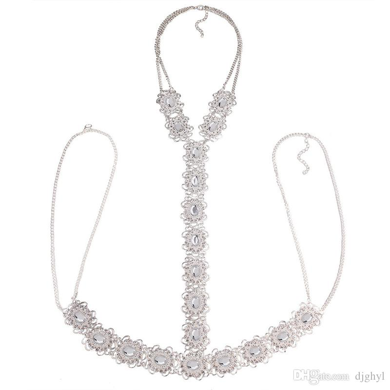 New Luxury Chunky Body Chain Femmes Fleur CollierPendant Maxi Femme Déclaration bijoux Mode Bijoux Bikini Accessoires Livraison Gratuite