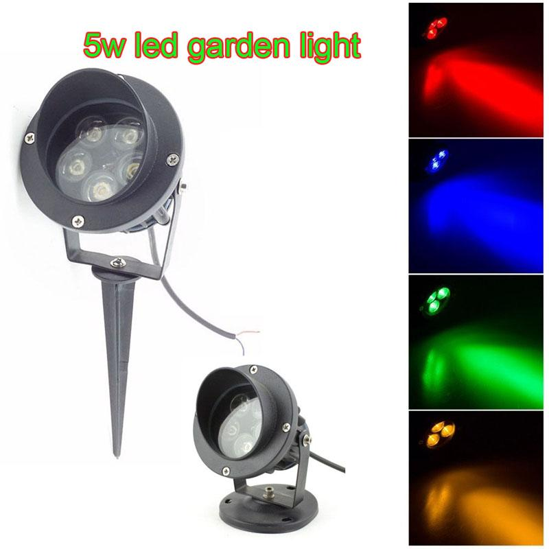 Luz de punto de trayectoria LED de alta potencia 5X1W con base o espiga Luz de punto LED de césped LED de punto Luz de inundación enterrada