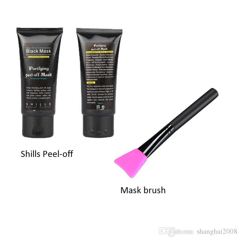 2019 New Shills Masques pour le visage détachables Black MASK Masque facial à points noirs 50ML Populaire avec la brosse