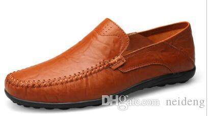 2017 мода лето мужчины дизайнерская обувь кожа дышащий ручной работы софе скольжения на мужские мокасины бесплатная доставка