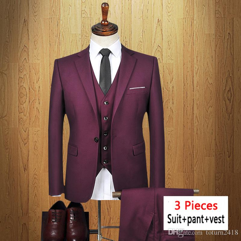 b7435baa6e2 Shop Fino Uomo Men s Slim Fit 3 Piece Suits – On Sale – Free Shipping Today  – Overstock.com – 17432305. 2018 Men Suit Suit Pant Vest Business Formal  Slim ...