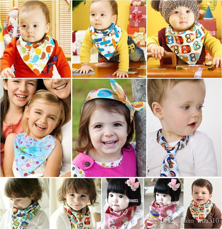 Nuovi Bambini adorabili Bavaglini o animali domestici vestiti di cotone sciarpa triangolare sciarpa bavero bavaglini Panni I086