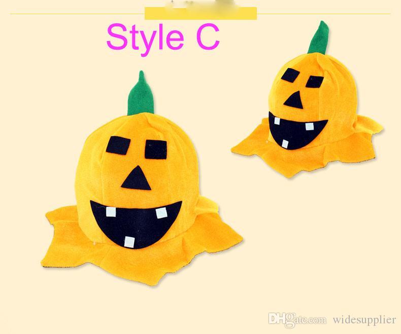 Halloween Supplies Halloween Makeup Dresses Performance Props Multiple Style Pumpkin Hat Pumpkin Cap 45g for Kid 14 years old or older