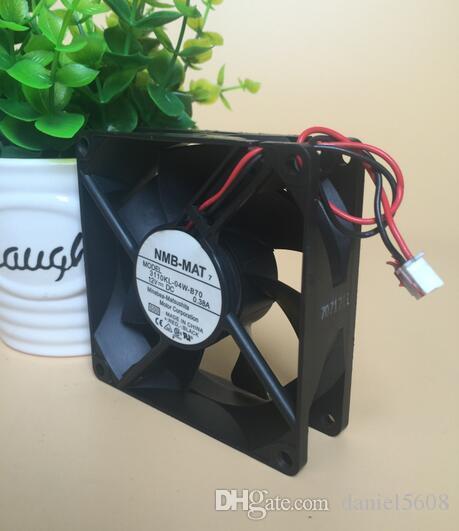 Ventilateur de refroidissement à deux fils à deux fils d'origine NMB 3110KL-04W-B70 8025 8CM 12V 0.38A