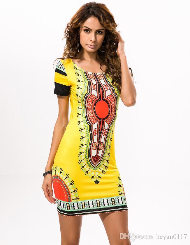 Traditionnel Nouveau Vintage Femmes Africain Été Robe Acheter qXwzPadxX