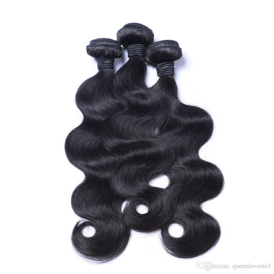Vague de corps brésilien tissage de cheveux sans trafic de cheveux de la vierge humaine tissers Remy Extensions de cheveux humains teinables Pas de perte de /