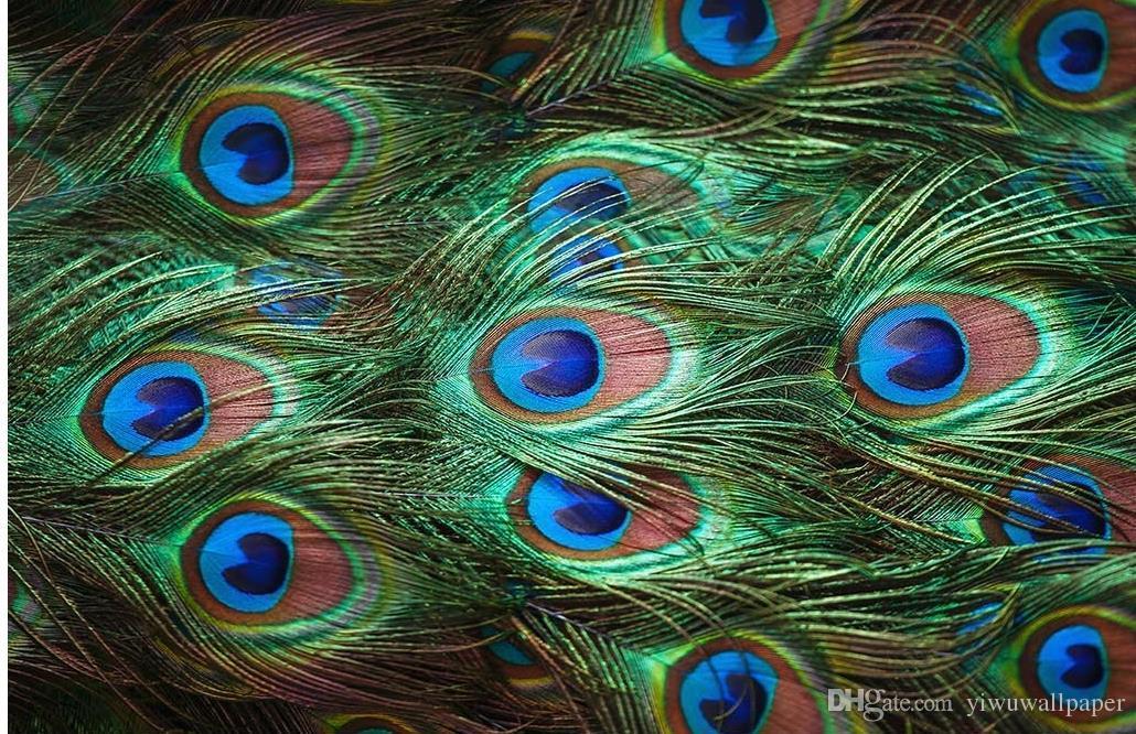 New Custom Wand 3D Wallpaper 3D-Tapeten für tv Hintergrund 3D Schöne HD Pfauenfedern Nahaufnahme Hintergrund Tapete