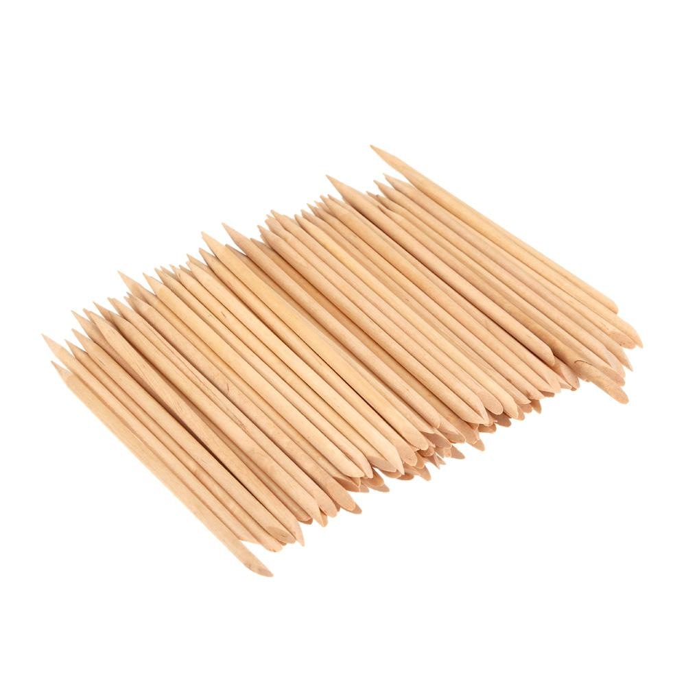 Wholesale Nail Art Design Orange Wood Stick Cuticle Pusher Remover ...