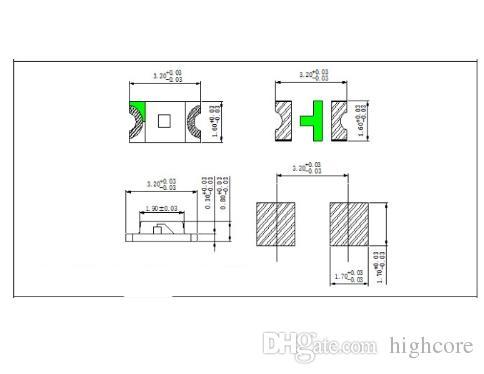 MIX SMD 1206 Diodo LED Rojo / Verde / Azul / Amarillo / Color blanco
