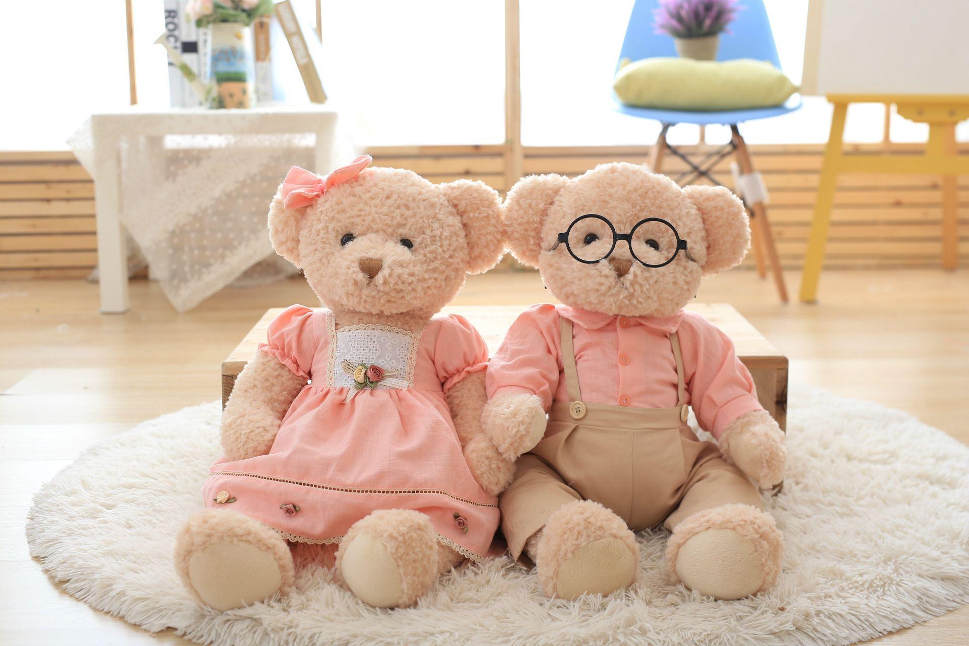 2019 Korean Couple Wedding Teddy Bear Plush Toy Doll Wedding Gift