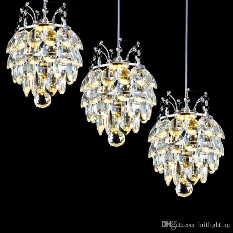 Bar Pendelleuchten Restaurant Wohnzimmer hängen Kristall Lampe Luxus  Kristall Pendelleuchte hängende Küche Esszimmer Pendelleuchte