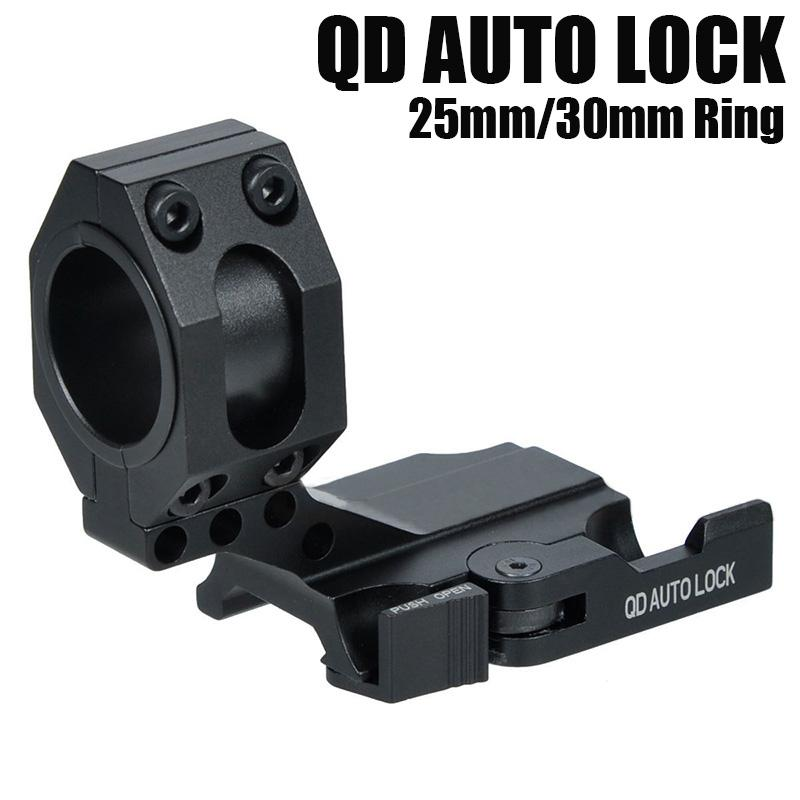 "25mm 1/""//30mm QD Quick Lock O-Ring Scope Mount for 20mm rail //30mm Diameter Scops"