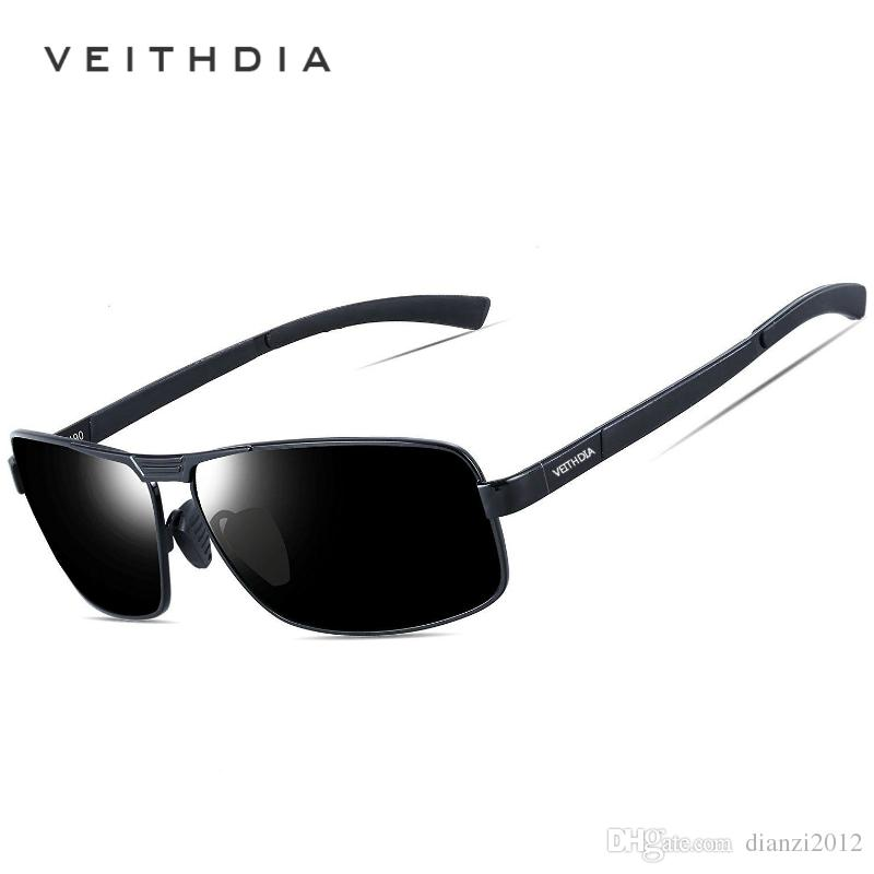 b330b7cc9d Polarized Sunglasses Brand Designer Sunglasses For Men UV400 Protection HD Fashion  Driving Glasses VEITHDIA Outdoor Sport Eyewear With Box Serengeti ...