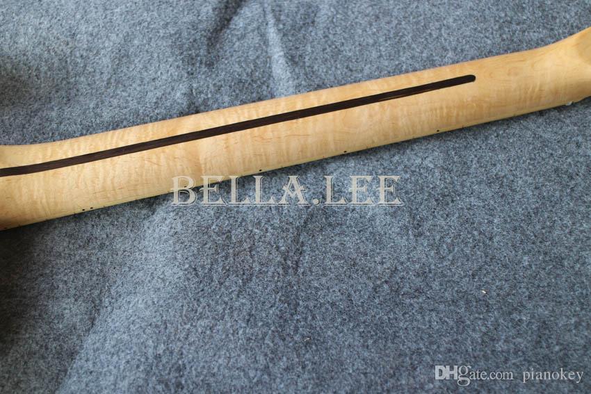 انفجر لون العسل تيلي نمط الغيتار ، لهب القيقب الرقبة ، الغيتار الكهربائي مخصص ، صنع في الصين