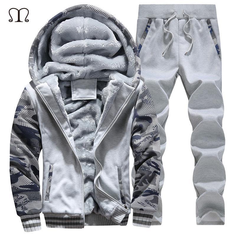 27e68ee34f3b 2019 Wholesale Men Jogger Set Brands 2016 New Arrived Xxxxl Hoodies Men  Sweat Suits Fleece Hooded Tracksuit Tops And Pants Plus Size M 4XL  D62  From ...
