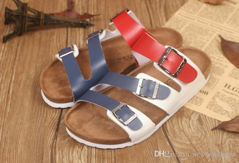 7fe75b35a Flip Flops Arizona 2017 Hot Sell Summer Men Women Flats Sandals Cork  Slippers Unisex Casual Shoes Print Mixed Colors Flip Flop Size 35 44 Wedding  Sandals ...