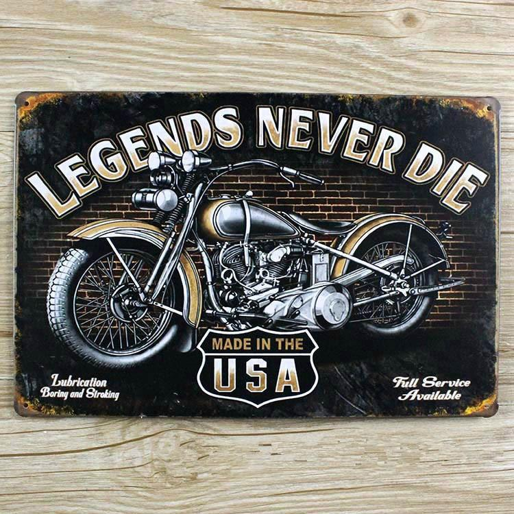Wholesale- Motorcycle Iron Painting Metal Tin Sign Plate Vintage ...