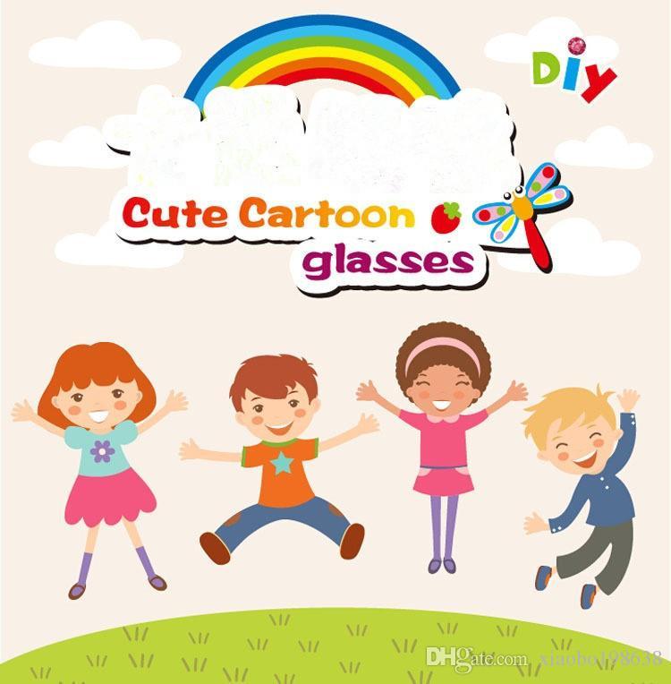 Cartoon Eva Foam Sticker Glasses DIY Craft Kit Creative Kindergarten Educational Toys for Kids Birthday Party
