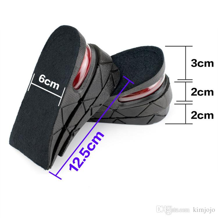 Unisex 7 cm PVC Insole Air Cushion Heel Insert Increase Taller Height Lift Shoe Pad Wholesale Retail