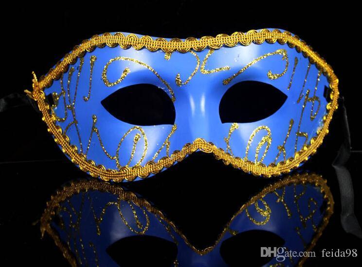 Masker Venetiaanse Maskerade Party Bruiloft Decoratie Partij Fancy Dress Party Masker van Gekleurde Tekening of Patroon G601