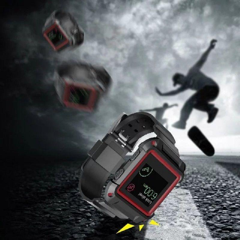 2017 Nuevo ShockScratches Armadura resistente Bisel Caja Correa de reloj Correa de reloj Reemplazo para Fitbit Blaze Correa de reloj