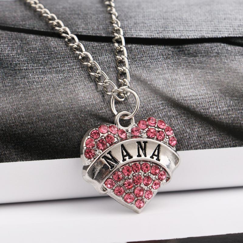 Hohe Qualität Herz Schmuck Ich liebe dich bis zum Mond und zurück Mom Anhänger Halskette Muttertag Geschenk Großhandel Modeschmuck