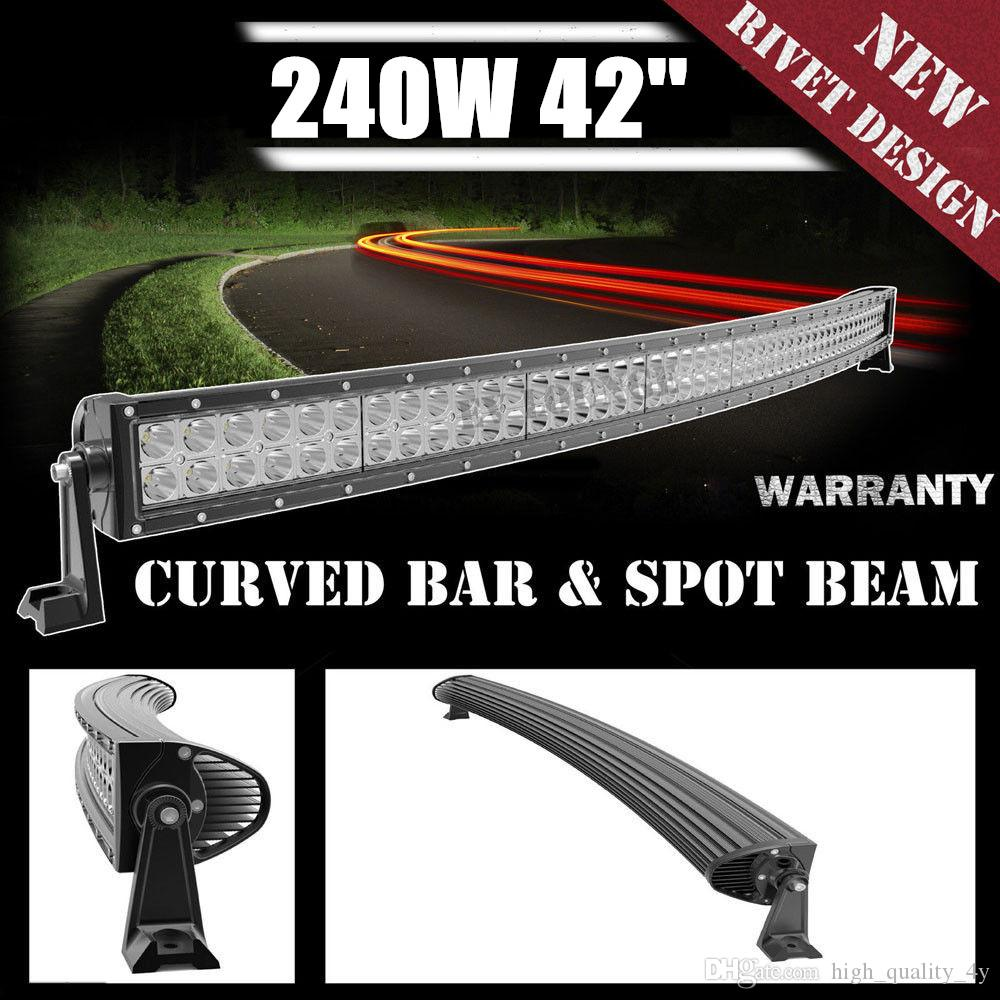 42 Inch 240w Led Light Bar Curved Combo Beam Work For Offroad Wiring Kit Truck Jeep Boat Trailer 4x4 Atv Suv 10 30v Auto Lamp Without