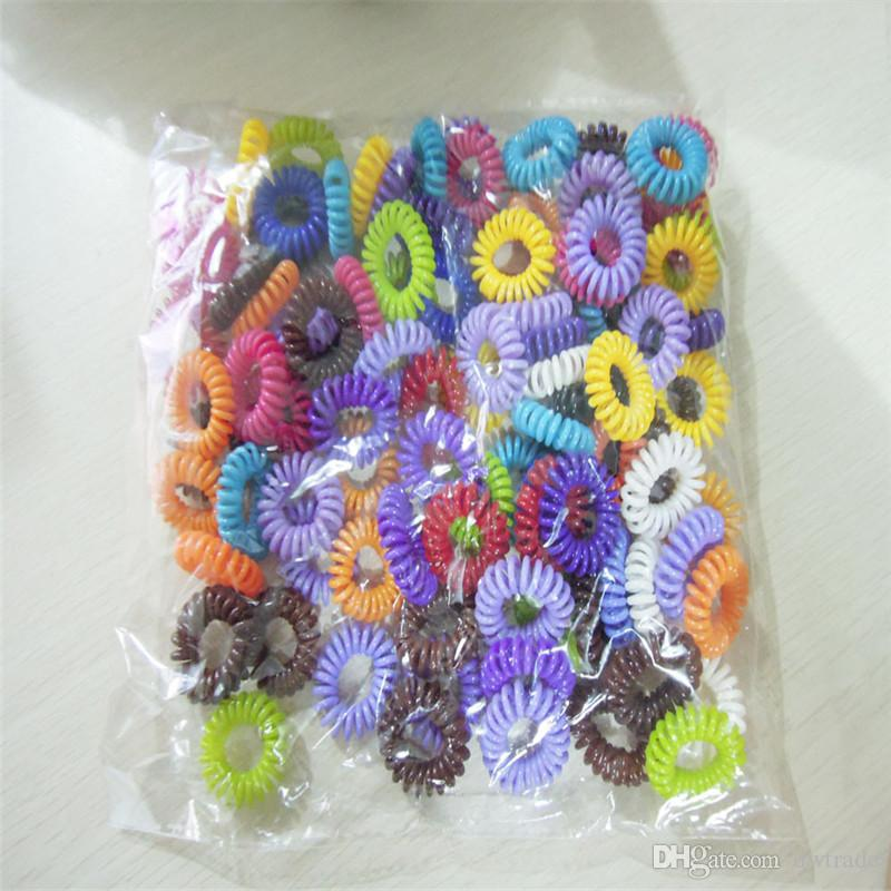 Sıcak Şeker Renkli Telefon Hattı Elastik Saç Bantları / Saç bağları / Saç halka / saç giymek / Saç Aksesuarları