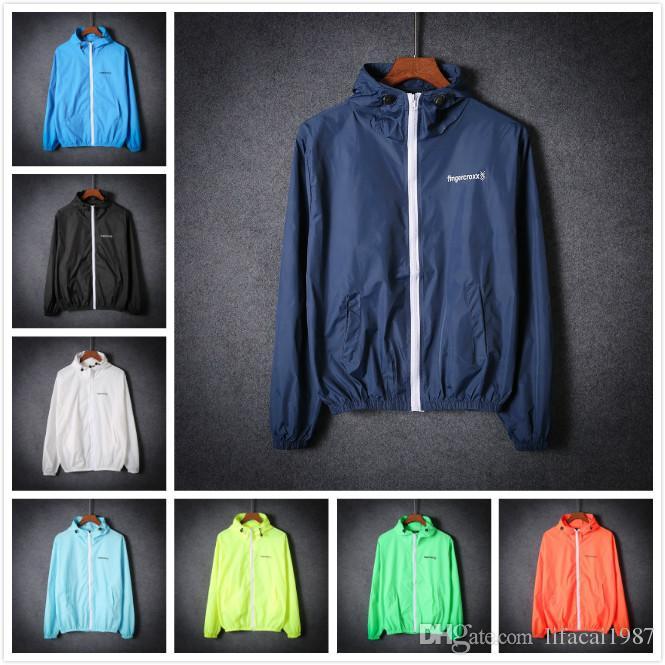 4de0f1851af4 2017 NEW Summer Sunscreen Coat Jacket Unisex Windbreaker Waterproof Thin  Hooded Zipper Quick Drying Long Jacket Fur Jackets From Lifacai1987