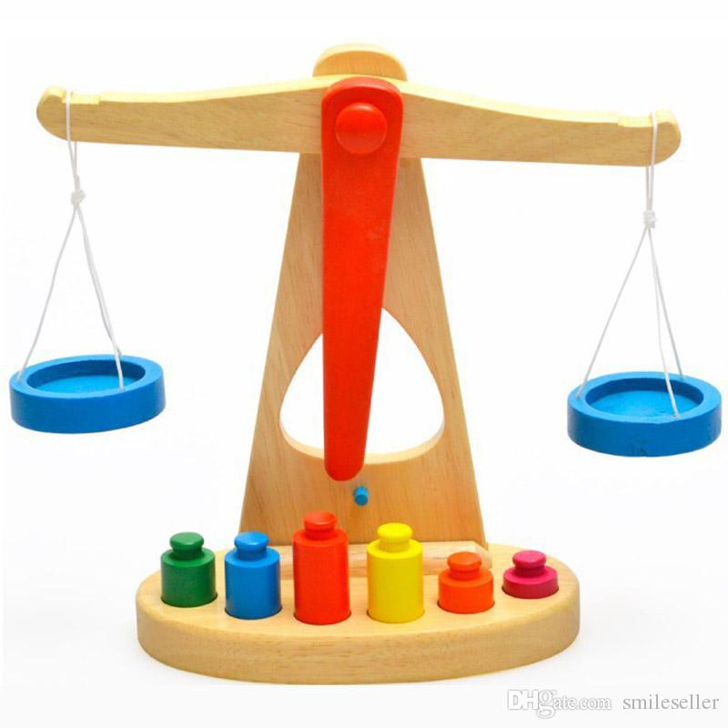 Educational Toys For Toddlers 2 4 : Wholesale baby scale toys kids wooden balance weights