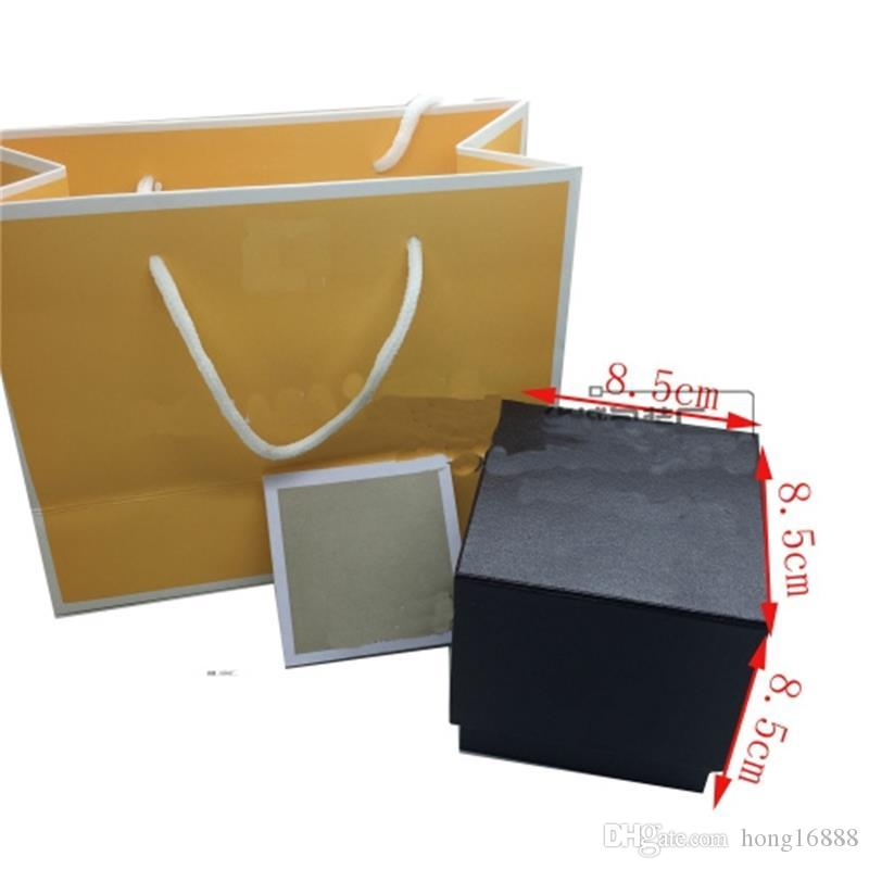 Caixa de relógios de luxo de moda Adequado para todos os mic-k caixa de relógios de luxo, conjunto completo caixa de relógios + Inglês instruções + saco de presente, atacado