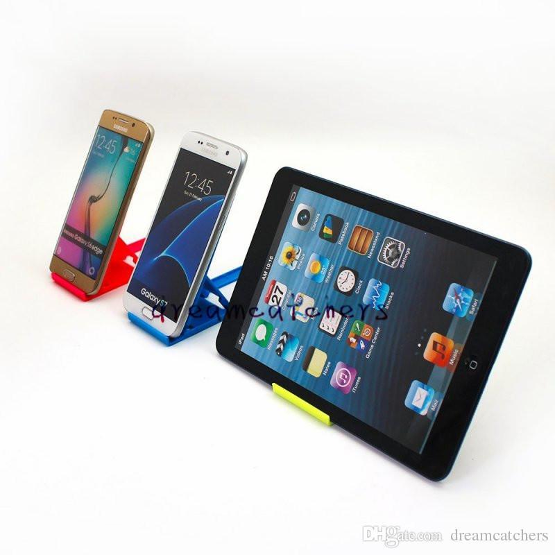 New Universal Foldable Plastic Desk Mini Phone Stand Holder Folding Adjustable Bracket Holder for iphone 7 Samsung S7 ipad HTC Cell phone