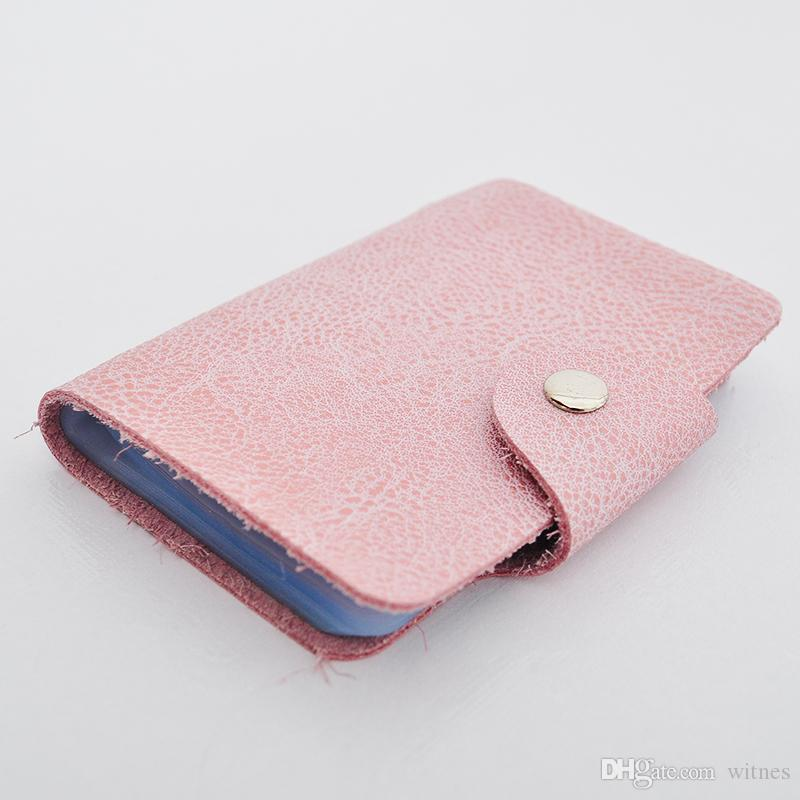 Card Bag Purse Pouch Leather Cowhide 20 VISA Card Bits Fashion Casual Card Holders Unisex Commerce Plain Quality Multicolor
