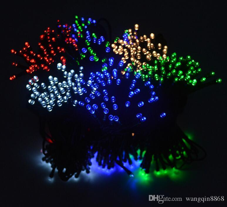 Led Christmas Lights Colors.12m Solar String Light 8 Modes 100 Leds Multi Colors Waterproof Led Christmas Lights For Indoor Outdoor Holiday Lights
