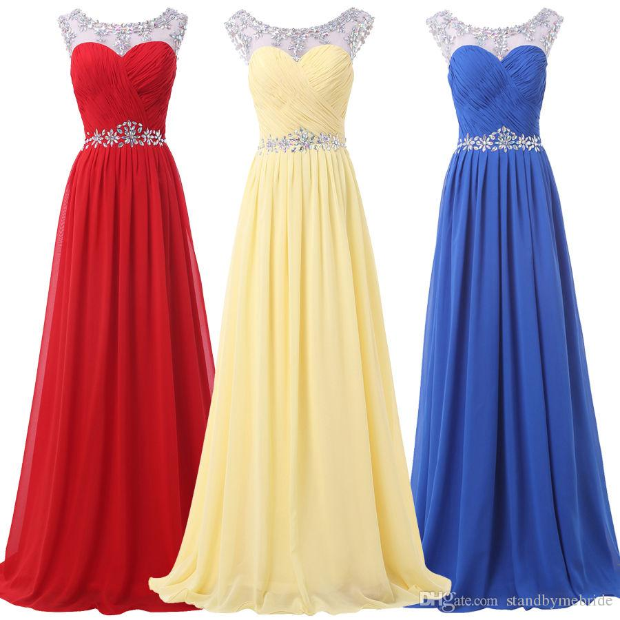 2017 red crew bridesmaid prom long formal evening party wedding 5 ombrellifo Gallery